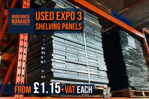Used Expo 3 Shelving Panels – USH044