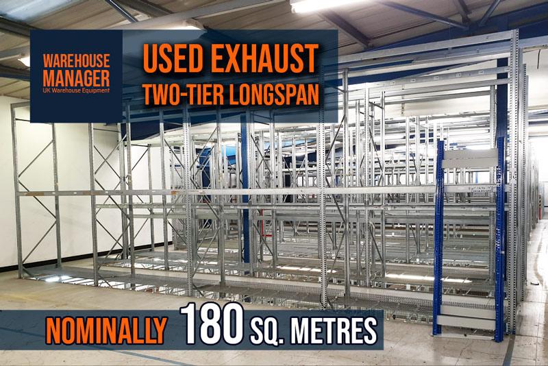 Used Exhaust Storage Longspan Two-Tier – USH043