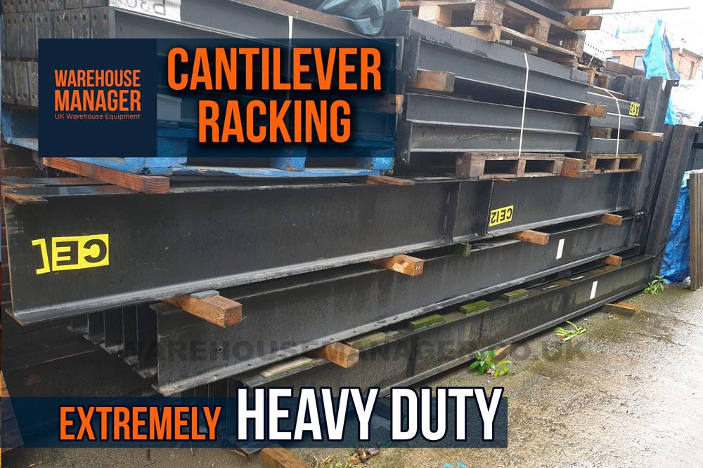 Used Heavy Duty Cantilever Racking – UCA001