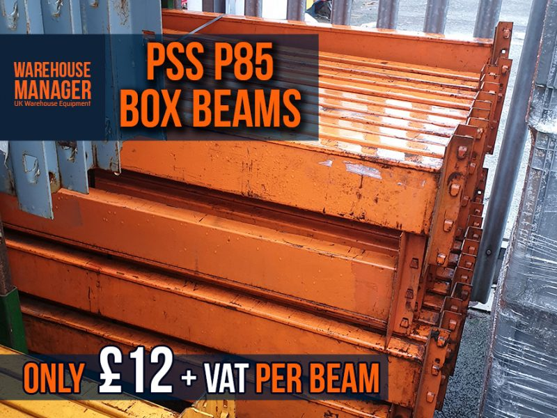 Used PSS P85 Pallet Racking Box Beams – UPR046