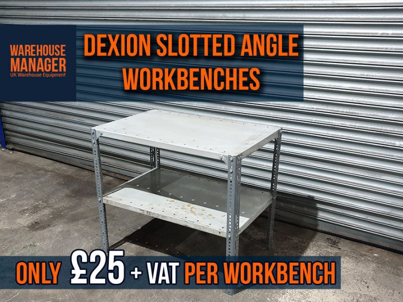 Used Dexion Slotted Angle Workbench – £25 + VAT