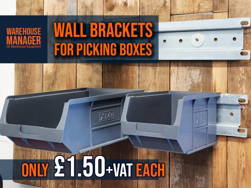 Used Metal Brackets / Heavy Duty Wall Rails – Only £1.50+VAT