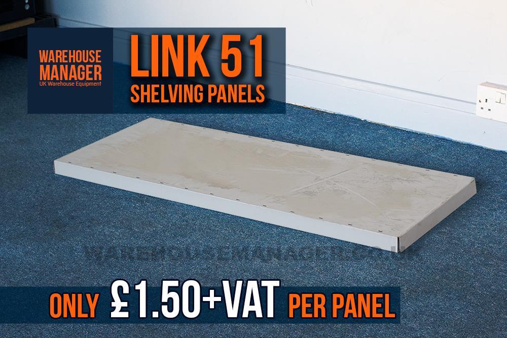 Used Link 51 Shelving Panels – USH029B