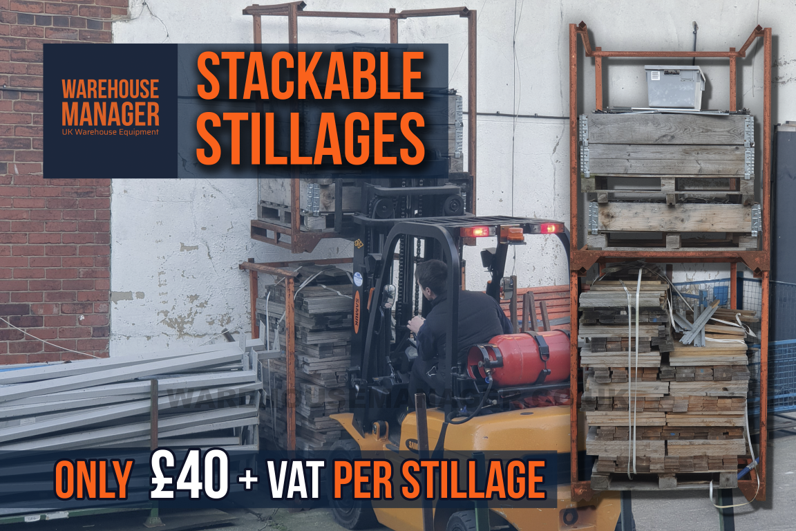 Used Orange Nestainer Stillages – £40 + VAT