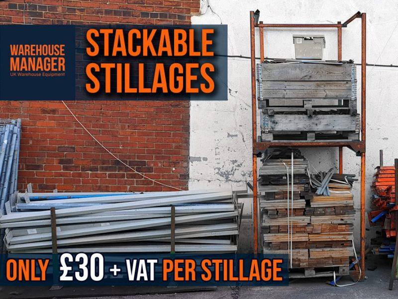 OFFER! Used Orange Nestainer Stillages – Now £30 + VAT