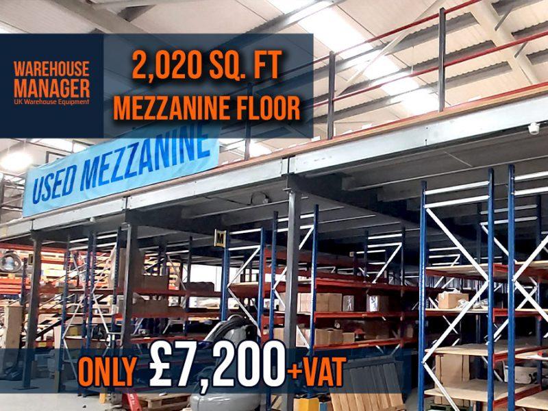 Used Mezzanine Floor 2,020 Sq. ft – UMZ010.