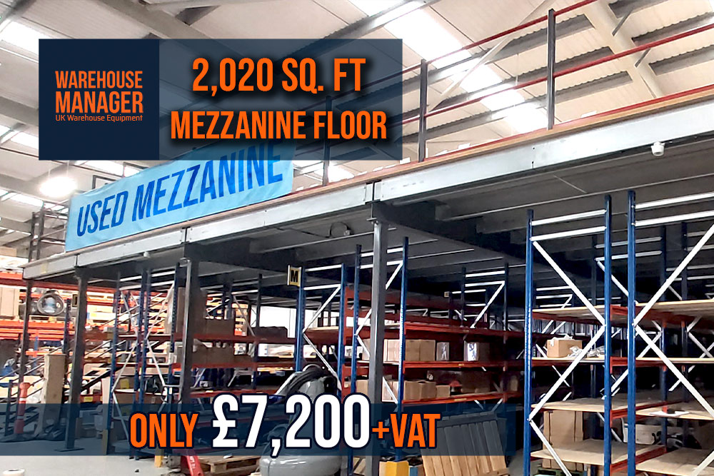 Used Mezzanine Floor 2,020 Sq. ft – UMZ010.