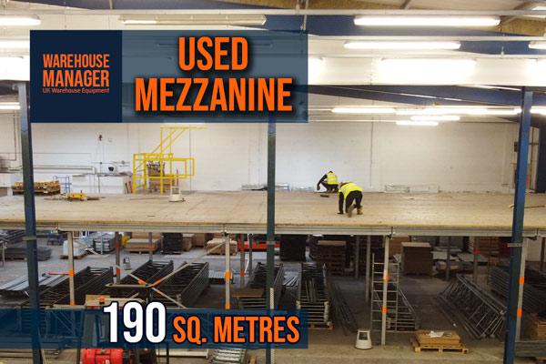 Used 190 Sq. Metre Mezzanine – UMZ0011
