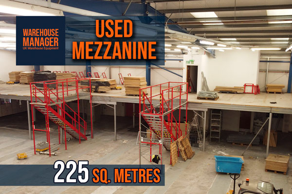 Used 225 Sq. Metre Mezzanine – UMZ012