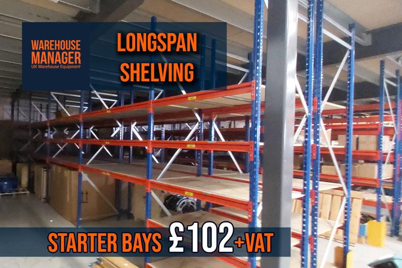 USED Longspan Shelving – USH042