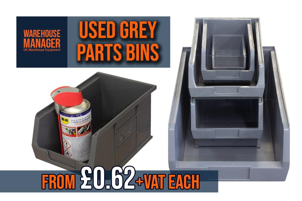 Used Grey Plastic Parts Bins –  USPB