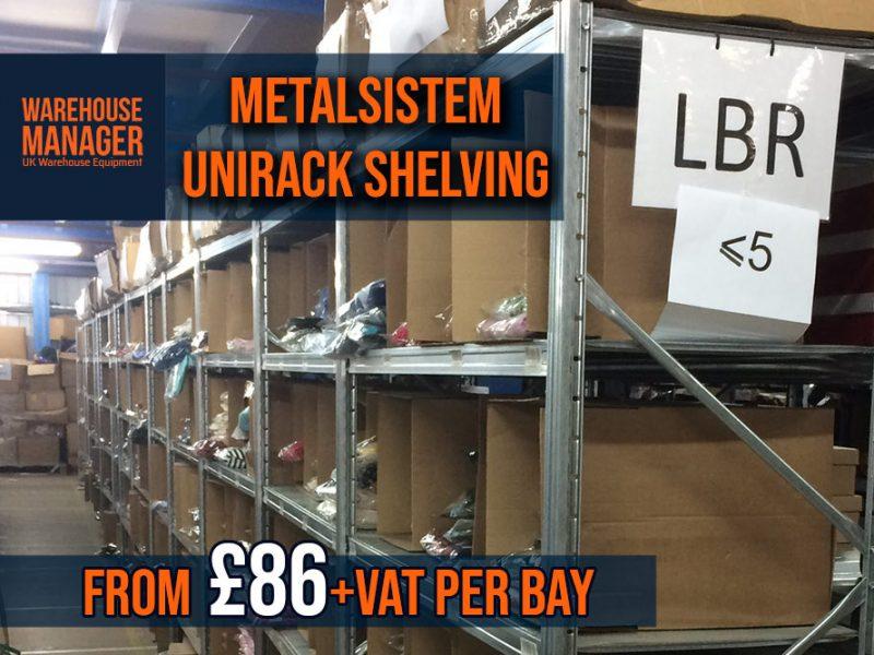 Used Galvanised Metalsistem Unirack Shelving USH037