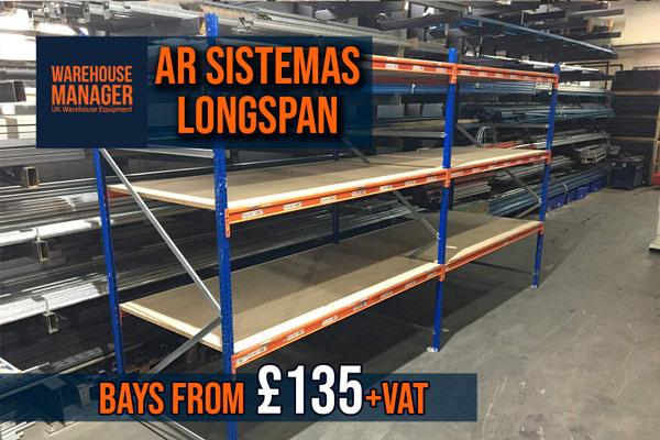 Used AR Sistemas Longspan Shelving (Quickspan) – USH041