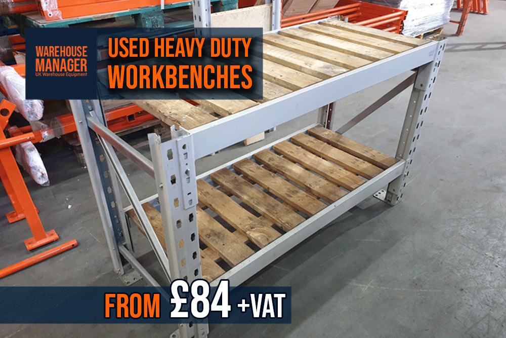 Used Heavy Duty Racking Workbenches